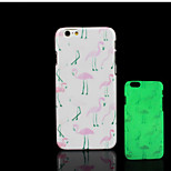Flamingos Pattern Glow in the Dark Hard Plastic Back Cover for iPhone 6 for iPhone 6s Case