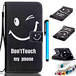 Coloured Drawing PU Leather Mobile Holster Including Anti-dust Plug stylus for Huawei P8 Lite