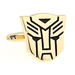 Transformers Autobots Optimus Prime Autobot guardian of justice cufflinks French shirt cuff nail