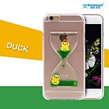 Sanlead Duck-2 PC With Rubber And Sand Liquid Back Case For Iphone6,6S