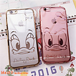 Ultra-Thin Fashion Smooth Electroplating TPU Soft Case with The Duck for iPhone 6 Plus/6s Plus(Assorted Colors)