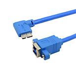 cy® usb hembra 3,0 a izquierda girando micro usb 3.0 (0.2m)