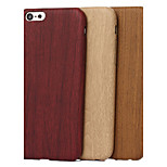 Specially Designed Wood Grain TPU Back Cover for iPhone 5/5S