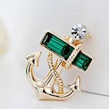 New Arrival Fashion Jewelry Popular Crystal Anchors Brooch