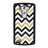 White Black Golden Stripe Design Metal Hard Case for LG L90/ G3/ G4