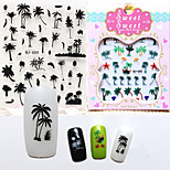 1pcs  Island Breeze 3D Nail Stickers