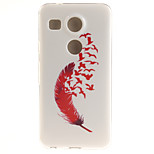 Red Feather TPU Material Phone Case for LG Nexus 5X