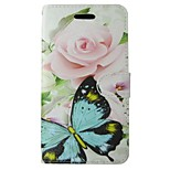Green Butterfly Painted PU Phone Case for iphone5/5S