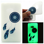 Blue Dreamcatcher Pattern TPU Luminous Phone Case For Nokia Lumia 540