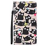 kitten Painted PU Phone Case for Huawei P8 Lite/P8