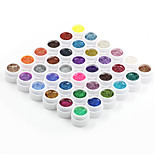 36PCS Soak Off Mixs glitter Color UV Color Gel Phototherapy Glue Nails Qq Barbie Nail(8ml)