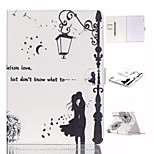 Classical Street Light of Love The dandelion TPU Textile Cloth Card Slot Stents The Cladding For Apple iPad 4/3/2