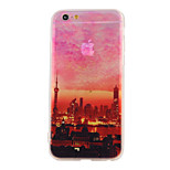 The New Twilight Pearl of the Orient Landscape Pattern Translucent TPU Material Combo Phone Case for iPhone 6/ 6S