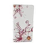 White bloom Pattern Flip Leather Case For iPhone 5/5S Cover Bags