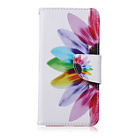 Flower Pattern PU Leather Material Flip Card Phone Case for LG Nexus 5x