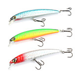 Mizugiwa Bass Fishing Lure Plastic Crank Bait Floating Minnow Pack of 3