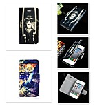 Golden Monkey Tiger Pattern PU Leather Full Body Case for iPhone 4/4S