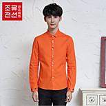 CELUCASN Herren Rundhalsausschnitt Lange Ärmel Shirt & Bluse Orange - F5PO3269B0102