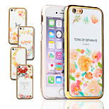 Girl Flower Luxury Art Print Painted Soft TPU & PC Golden Plating Frame Back Phone Case For IPhone 6 6S 4.7 inch