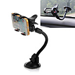 ZIQIAO 360°Rotatable Car Windshield Windscreen Mount Holder Dual Clip for Phone GPS