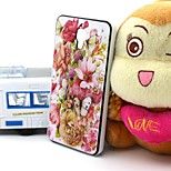 2-in-1 Butterfly Love Flowers Pattern TPU Back Cover with PC Bumper Shockproof Soft Case for Xiao Mi 4 MI4