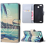 Beach and Anchor Magnetic PU Leather wallet Flip Stand Case cover for Huawei Ascend P9