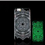 Aztec Mandala Pattern Glow in the Dark Hard Plastic Back Cover for iPhone 6 for iPhone 6s Case