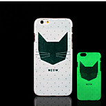 Cat Kitty Pattern Glow in the Dark Hard Plastic Back Cover for iPhone 6 for iPhone 6s Case