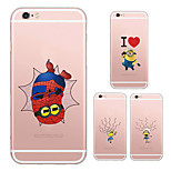MAYCARI®Cute Mr.Minions Soft Transparent TPU Back Case for iPhone 6/iphone 6S(Assorted Colors)