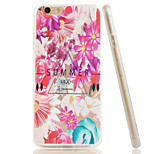 Flowers Embossment Dull Polish Side + Transparent TPU Soft Phone Case for iPhone 6/6S
