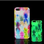 piña patrón de brillo en la cubierta trasera de plástico duro oscuro para iphone 5 para el caso del iphone 5s