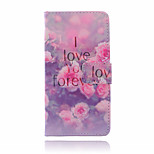Peony Pattern  PU Leather Material Suction Buckle Card Holder  Phone Case for Huawei P8 Lite