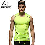 Vansydical Men's Quick Dry Fitness Tops Green