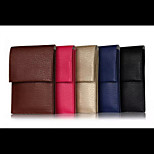 6.3 -Inch General Pockets The Litchi Grain Double Card Mobile Phone Bag for IPhone or Samsung