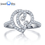 Fashion Wedding Heart Accessories 925-Sterling-Silver White Cubic Zirconia Rings For Women&Lady