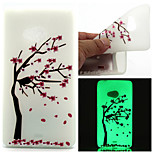 Plum Tree Pattern TPU Luminous Phone Case For Nokia Lumia 540