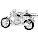 Two-wheeled motorized scooter modeling cufflinks French shirt cuff nail