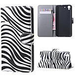 Zebra Stripes PU Magnetic Leather wallet Flip Stand Case cover for Huawei Honor 4A / Y6