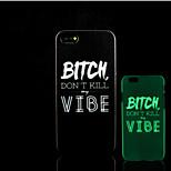 motif phrase slogan lueur dans la couverture arrière en plastique dur noir pour iPhone 5 pour iphone 5s cas
