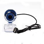 câmera do computador transparente clip-on base de 8,0 webcam em azul