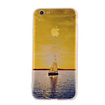 The New Sea Landscape Pattern Translucent TPU Material Combo Phone Case for iPhone 6/ 6S