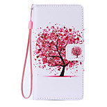 Red Tree Painted PU Phone Case for Huawei P8 Lite/P8