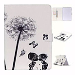 Love Dandelion and TPU Textile Cloth Card Slot Stents The Cladding For Apple iPad Air 2