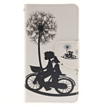 Bike Dandelion Design PU Material Cell Phone Case Cover For WIKO Sunset 2