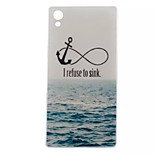 New Fashion 3D Sea letter Case TPU Back Cover for Sony Xperia Z5