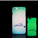 Smile Pattern Glow in the Dark Hard Plastic Back Cover for iPhone 6 for iPhone 6s Case