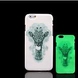 girafa padrão de brilho na tampa traseira de plástico duro escuro para iphone 5 por 5s iphone caso