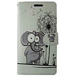 Elephant Dandelion Painted PU Phone Case for Huawei P8 Lite/P8