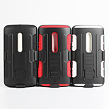 2 em 1 caso design de pele de plástico rígido + capa de silicone macio exterior para moto moto x3 / xt1561 / x jogar 5,5 (cores sortidas)