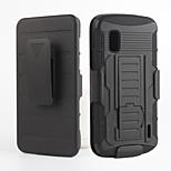 2 in 1 design case Hard Plastic Skin+Soft Outer Silicone Case for LG E960/Nexus 4
